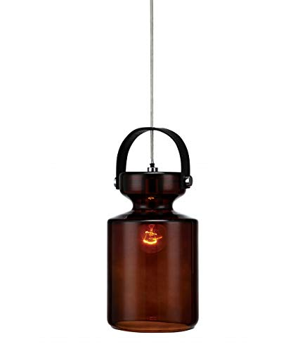 Mark Slöjd 105913 Lampe suspension, verre, argent