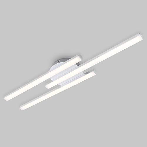 Preisvergleich Produktbild Briloner Leuchten LED Deckenleuchte,  Deckenlampe 3-flammig,  6 Watt,  480 Lumen,  3.000 Kelvin,  Aluminiumfarbig,  565x120x43mm (LxBxH),  6 W,  Aluminium Farbig