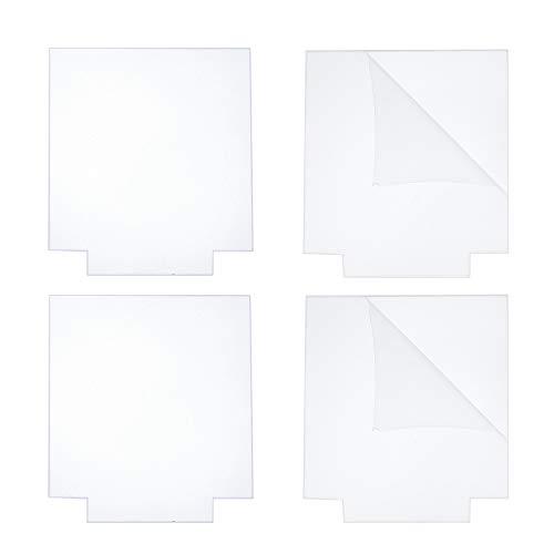 CREATCABIN 4 Pieza de Lámina Acrílica Panel Cuadrado de Plexiglás Fundido Transparente Tablero de Vidrio de Plástico Grueso de 4 mm para Base de Luz LED Señales Proyectos