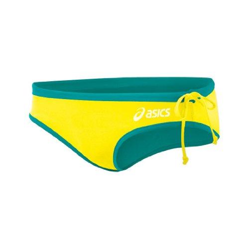 ASICS Kaitlyn Bikinihose für Damen, Damen, Petrol/Zitrone, Large