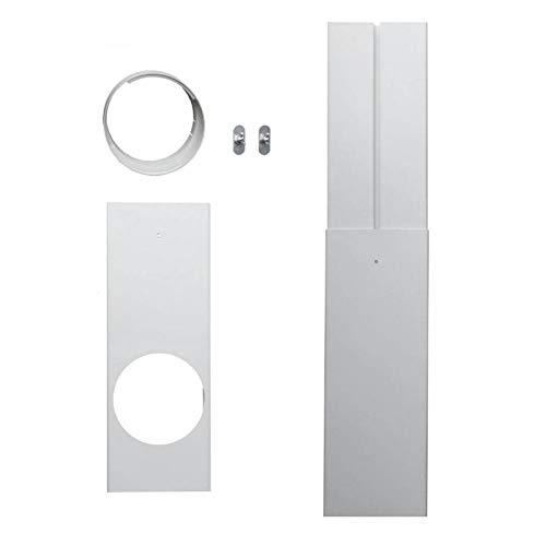 Bulary Dreiteilige Fenster-Kit-Platte Fensteradapter Fenster-Kit-Platte Mobile Klimaanlage Auspuffrohr-Armaturen Auspuffrohr-Prallwand