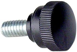 3//4 Diameter Knurled Head Threaded Stud Morton KKS-52 Black Oxide Carbon Steel 12L14 Round Knob 1//4-20 x 3//4 Length Thread