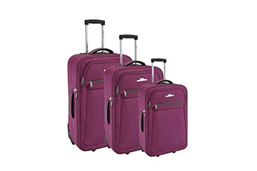 Compagnie du bagage Set de 3 Valises Juego de Maletas 51 Centimeters Rojo (Rouge)