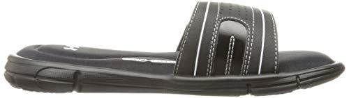Under Armour Girls' Ignite VIII Slide Sandal, Black (001)/White, 11K