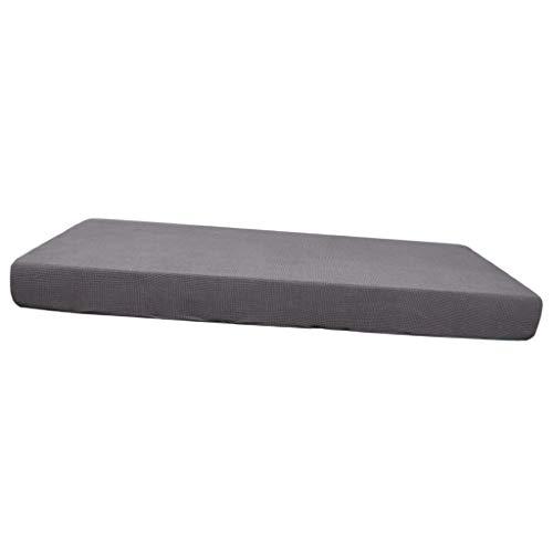 PETSOLA rutschfeste Jacquard Spandex Sofa Couch Sitzbank Kissenbezug Schonbezug Ersatz Für Zuhause Wohnzimmer Garten Terrasse - Hellgrau-Größe L