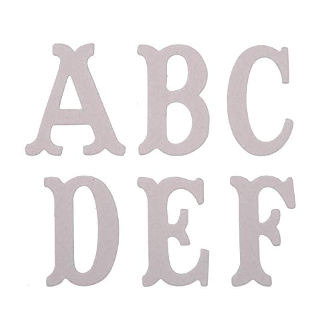 Bulk Buy: Darice DIY Crafts Chipboard Letters 3 inches 26 pieces (6-Pack) 1208-72