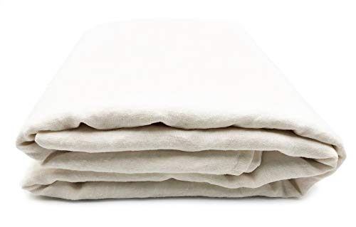 JOWOLLINA 100prozent Leinen Stonewashed Laken Bettlaken Überwurf mit Briefecken 220mg2 (245x290 cm, Off White)