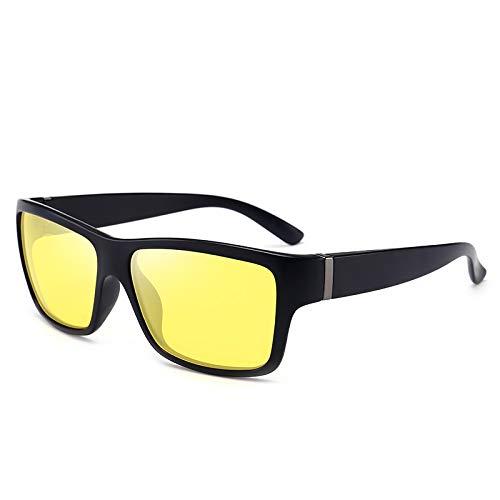 HMHYL New Wild Sonnenbrille Driver Night Vision Goggles Aviator Sonnenbrille Outdoor Sports Polarisator Gr. Einheitsgröße, Mattschwarz 2
