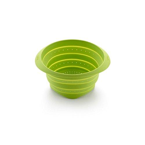 Lékué Colador de Silicona, Verde, 23 cm