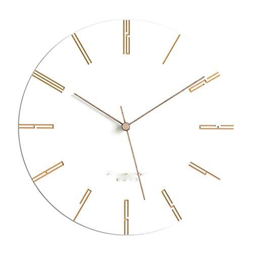 JJZST Reloj de Pared, Silent batería Operado Reloj de Pared con el Marco de la Cubierta de Cristal de Alta definición for los niños de la Sala Dormitorio Oficina de la Escuela de Cocina (Color : E)