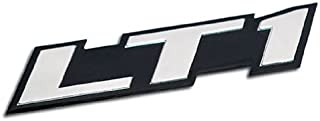 ERPART LT1 Embossed Silver on Black Highly Polished Real Aluminum Auto Emblem Badge Nameplate Compatible with Chevy Corvette C4 Buick Camaro Pontiac Trans AM SS Impala Cadillac Pontiac Firebird Z28
