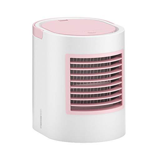TFH Mini USB Fan fácil de transportar Table Fan Ligero Personal Spray Cooling Air esencial para El Verano Adjustable Portable Fan Uso múltiple J-24 (Pink)