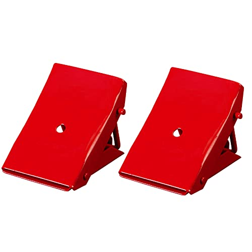 BIG RED TD3553 Torin Steel Safety Wheel Chock: Foldable Tire Stop, Red, 1 Pair