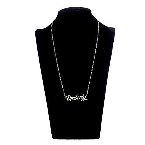 AOLO Gold Plated Kimberly Name Necklace Stainless Steel Jewelry