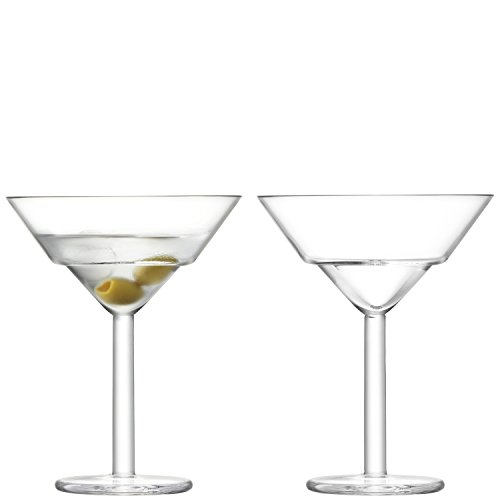 LSA International Mixologist Cocktail Verre à Martini Transparent 230 ML X 2, 11.7 x 11.7 x 15 cm