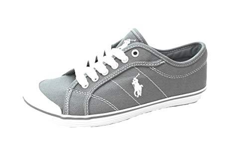 Ralph Lauren Polo Marin - Zapatillas de Lona para Mujer, Color Azul Cambray(Los zapatos son de una talla más grande que la especificada)