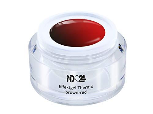 Uv Led Effekt-Gel Thermo Brown-Red - Studio Qualität - Made In Germany - 5ml