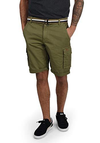 Blend Brian Herren Cargo Shorts Bermuda Kurze Hose Mit Gürtel Regular Fit, Größe:XL, Farbe:Martini Olive (77238)