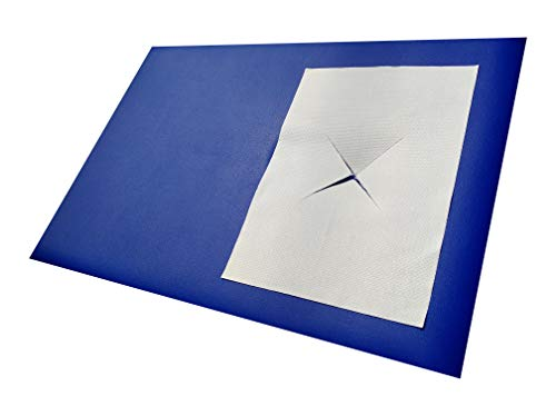 Saxmat.de XXL-Nasenschlitztücher/Gesichtsauflagen: 600 Stück 40 x 30 cm aus Premium-Airlaid-Zellstoff in fünf Folienbeuteln zu je 120 Stück für Massageliegen.