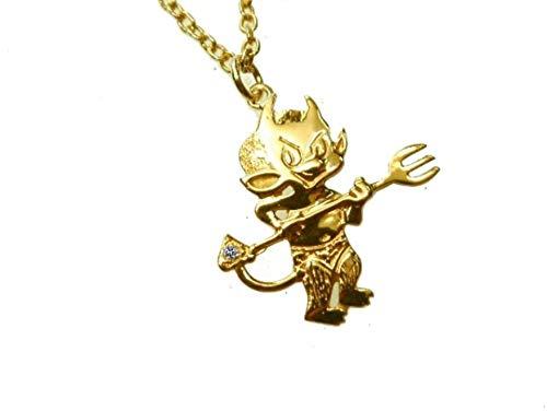 mr.goldis Teufel Anhänger Gold 333 Teufelchen Devill Luzifer Zirkonia im Schwanz