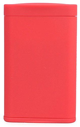 Dreams(ドリームズ) 携帯灰皿 ポケットアッシュトレイ スリム ハニカム 4本収納 レッド MDL45285 高さ7.9cm×幅5.0cm×厚さ1.4cm
