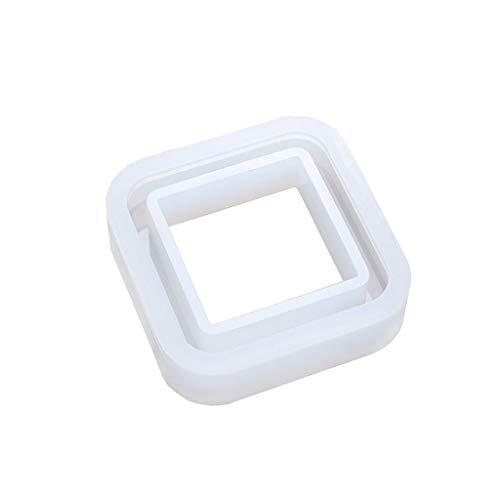 YUZI caja de almacenamiento de silicona multicapa juego de moldes de resina epoxi moldes organizadores de macetas apilables multiusos artesanía