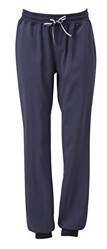 MEDANTA Mikrofaser Hose, elastische Schlupfhose mit 2 Taschen, Krankenschwester Arzt OP Pflegebekleidung Arbeitskleidung für Damen und Herren - Navy Blau