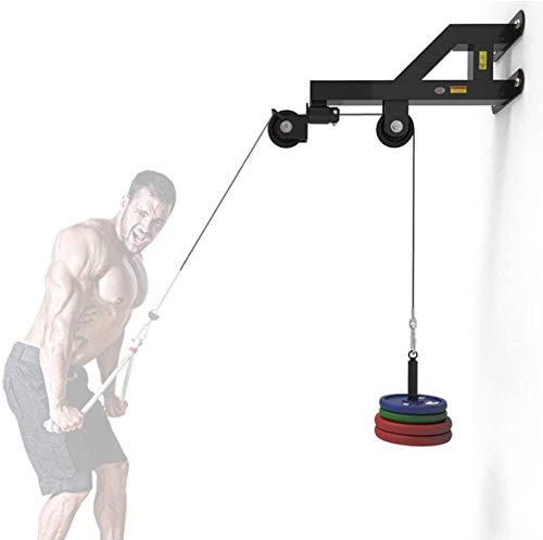 Wall High-Level Pull-Down Trainer, Traction Station High Pulley Wall-Mounted Pull-Down Exercise Machine, Exercise Back Muscle Press Down Fitness Equipment