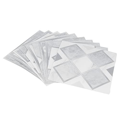 10 piezas de papel de pared de baño impermeable autoadhesivo decoración de fondo de sala de estar pegatina de pared para sala de estar dormitorio baños