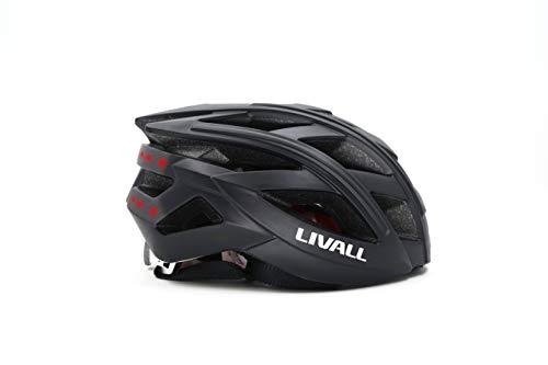 LIVALL BH60SE 黒(BLACK) 自転車 ヘルメット LEDライト 方向指示器 3軸センサー 安全アラート ブルートゥース 音楽視聴 電話機能 トランシーバー GPSナビゲーション 55cm-61cm