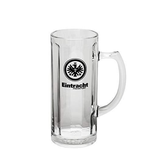 Eintracht Frankfurt Bierseidel 0,3 l Logo Glas, Bierglas, Bierhumpen, Bierkrug SGE - Plus Lesezeichen I Love Frankfurt