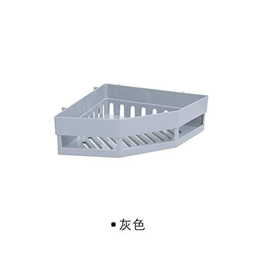 RAQ hoekplank, zonder perforatie, hoekrek, wasrek, naadloze wandplank, stopcontact, badkamerplank, Russische opvoering, grijs