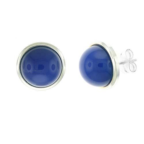 Córdoba Jewels   Pendientes en Plata de Ley 925 con diseño Esfera Montana Silver