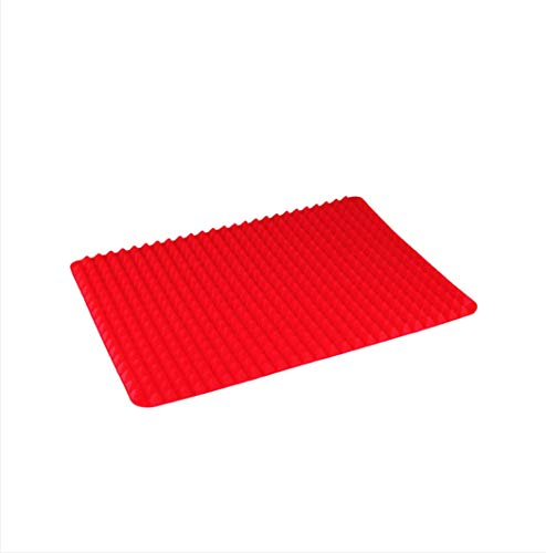 Hauskraft SLCN-019VM Tapete para Forno em Silicone, Vermelho, 39 x 27 cm