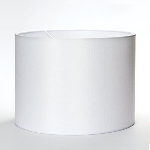 Stoff Lampenschirm Aufnahme E27 Weiß Textilschirm Tischlampe Stehlampe Hängelampe rund (weiß, 40cm)