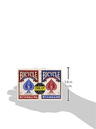 Bicycle Unisex's RED-Blue Standard Face Playing Cards (2 Pack), 88 x 63 mm