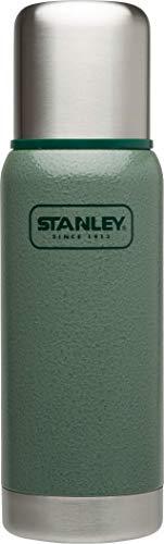 Stanley Adventure Vakuum-Thermosflasche 0,5 Liter, Hammertone Green, 18/8 Edelstahl, integrierter Thermobecher, Doppelwandige Isolierung, Isolierflasche Thermoskanne