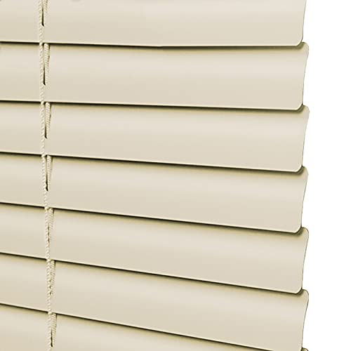 uxhbla blinds 1inch Venetian Blinds Light Yellow, Indoor Aluminum Alloy Horizontal Blackout Window Curtains, Fit for Kitchen Bathroom Bedroom, 63 Sizes (Color : W 130cm, Size : H160cm)