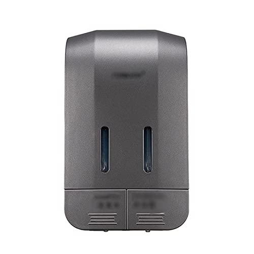 Dispensador de loción botella dispensador de jabón Montado en la pared Dispensador de jabón de plástico Oficina de hotel Home Public Place Shampoo Lavavajillas Lávedaje Líquido Doble Cabeza Blanco Dis