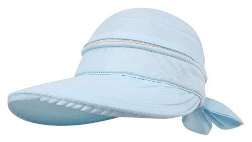Simplicity Hüte für Frauen UPF 50+ UV Sonnenschutz wandelbar Strand Visier Hut - Blau - Einheitsgröße