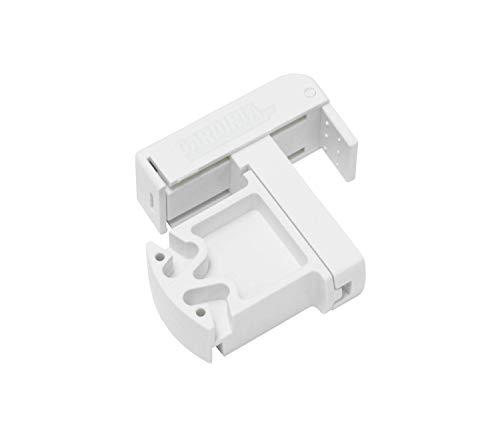 GARDINIA Klemmträger für Mittel- und Seitenzugrollos, Kunststoff, Weiß