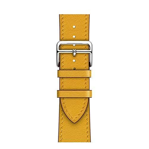 Correa de cuero de un solo anillo adecuada para iWatch 38 mm 42 mm Correa deportiva de negocios adecuada para Apple Watch 40 mm 44 mm serie 123456 SE