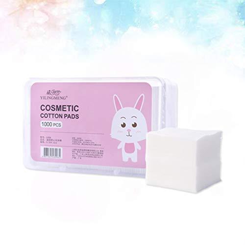 1000 stücke Make-Up Gesichts Dünne Wattepads Weiche Kosmetische Pad mit Aufbewahrungsbox für Gesicht Make-Up Entfernen