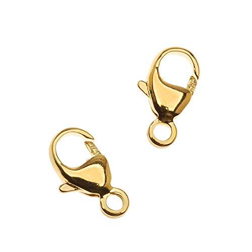 Beadaholique 22K Gold Vermeil Lobster Clasps 9.5mm, 2 Pieces