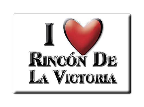 Enjoymagnets RINCÓN DE LA Victoria (MA) Souvenir IMANES DE Nevera ESPAÑA ANDALUCÍA IMAN Fridge Magnet Corazon I Love