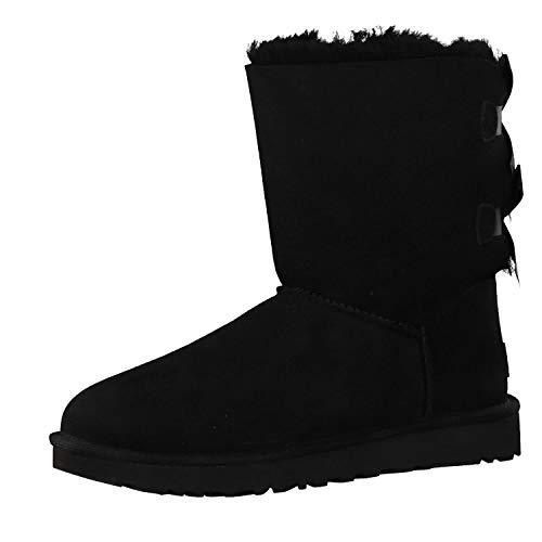 UGG Female Bailey Bow II Classic Boot, Black, 39 EU