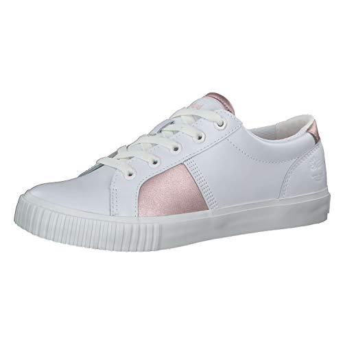 Timberland Damen Skyla Bay Oxford Sneaker, Weiß, 38 EU