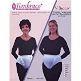 V-Brace by Fembrace Support Garments for Vulvar Varicosities, Genital Prolapse and Incontinence, Style 6200, Large, White