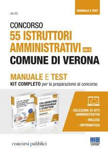 Concorso 55 istruttori amministrativi Comune di Verona (Cat. C). Manuale e Test