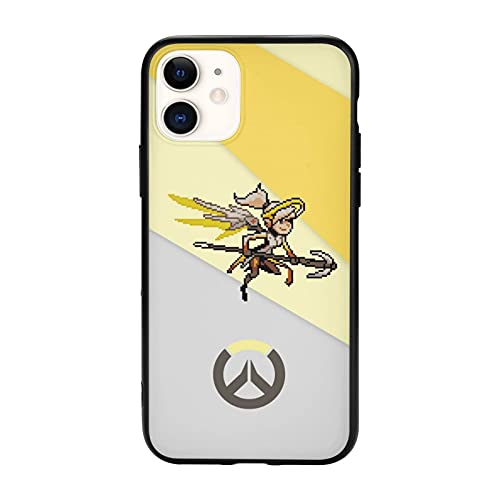 Overwatch Mercy iPhone 11 Case Cute Rubber Drop-Proof Phone Protection Cover Compatible with iPhone 11 Pro/11pro Max for Women Men
